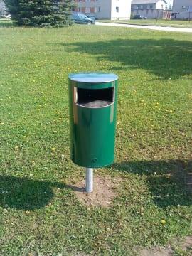 Søppelkasse, 30 l, inkl.stolpe