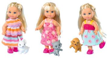 Store dukkehusdukker, barn, 3 ass 12cm