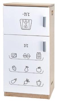 Lekekjøkken m/hvit front, kjøleskap