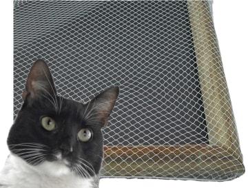 Kattenett inkl. strikk. Pris pr. m2, maskestørrelse: 50 mm.