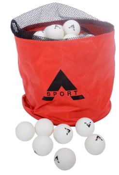 Bordtennisballer 90 stk. i oppbevaringsveske.