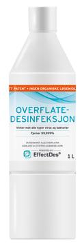 EffectDes alkoholfri overflate desinfeksjon, 12 x 1 liter