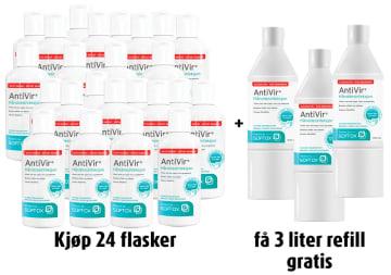 AntiVir Alkoholfri hånddesinfeksjon, 250 ml, 24 stk.+ refill