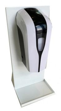 Bordstativ for dispenser, hvit metall