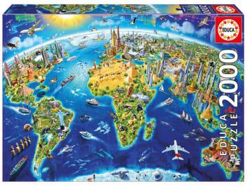 Educa puslespill 2000 brikker, verdens landemerker