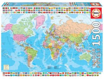 Educa puslespill 1500 brikker, verdenskart