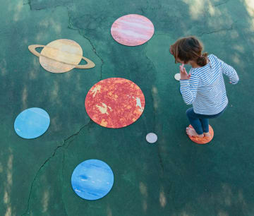 Solsystemet vårt, gulvmatter. 10 deler