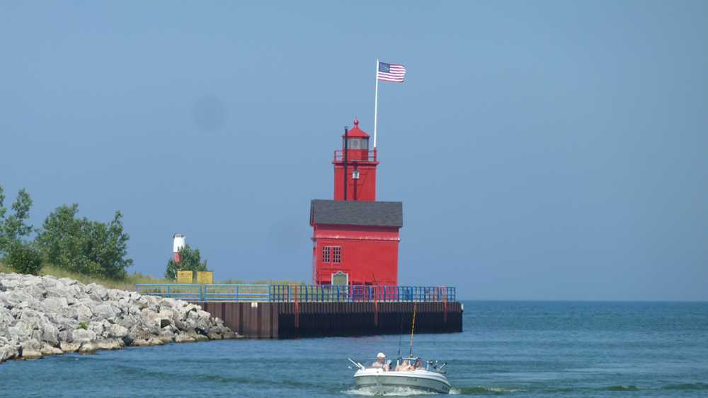 Big Red Lighthouse at Holland State Park