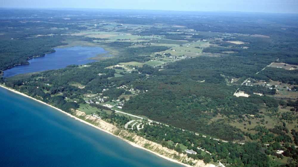 Orchard Beach State Park, aerial view