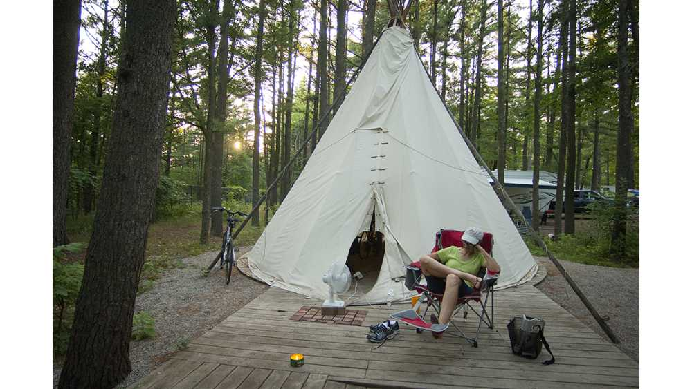 Tepee at Keith J. Charters Traverse City State Park