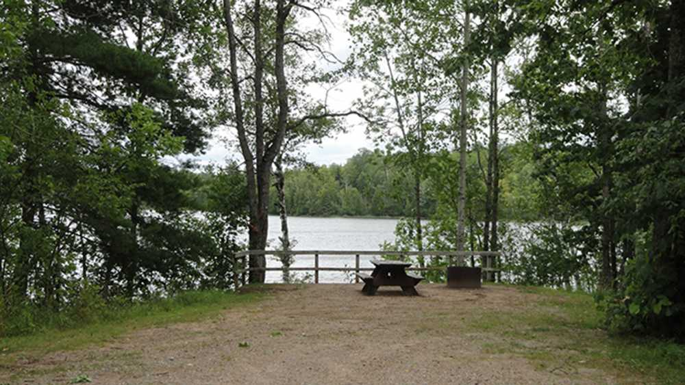 Campsite at Carney Lake State Forest Campground