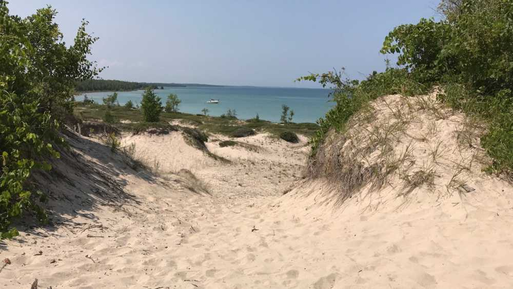 Sand dunes at Thompson's Harbor state park