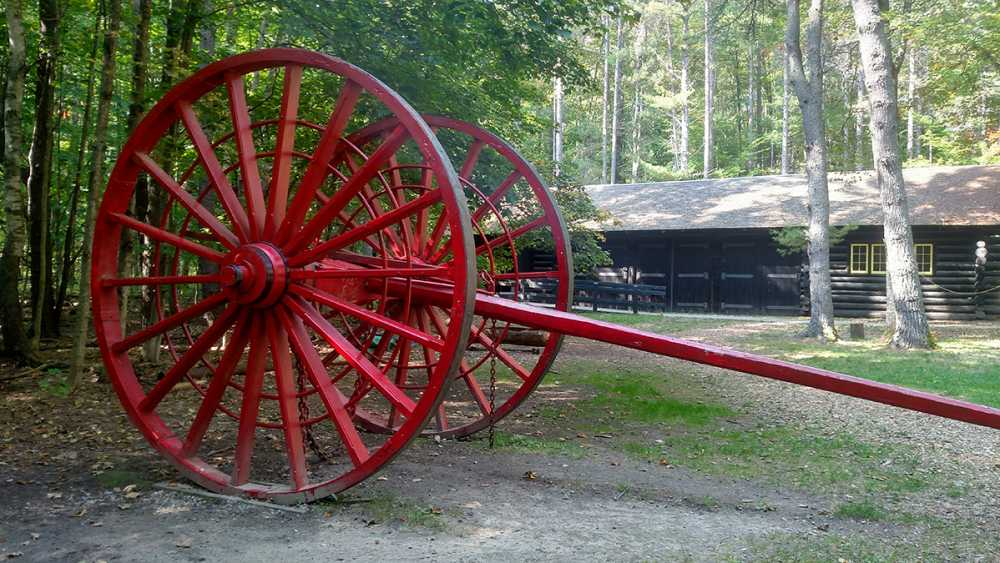 Big wheels at Hartwick Pines Logging Museum