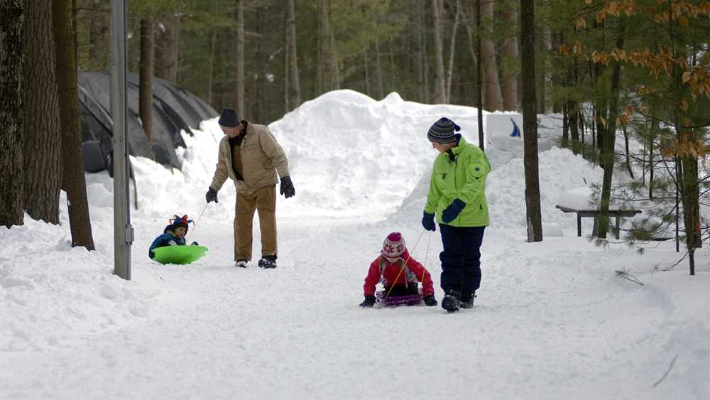 Winter fun at Muskegon State Park