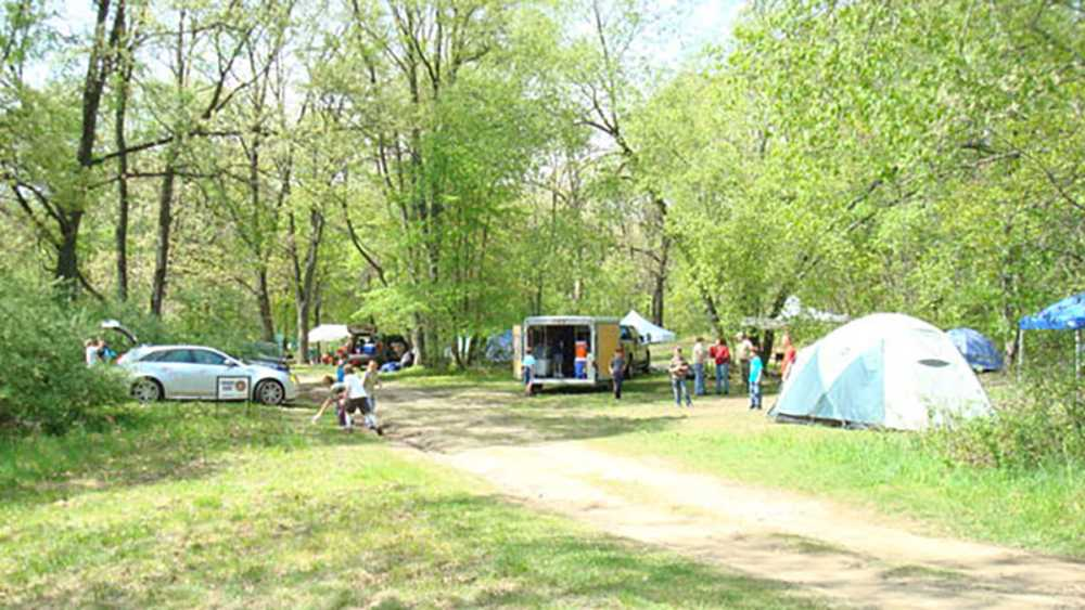 Group camping area at Highland Recreation Area