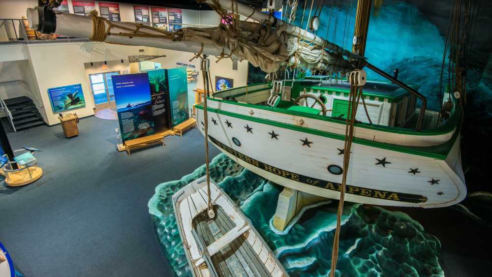 Great Lakes Maritime Heritage Center, interior ship exhibit
