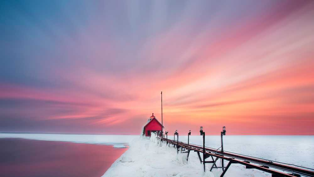 Grand Haven Winter Sunset - Photo Credit: Masphotomi.com