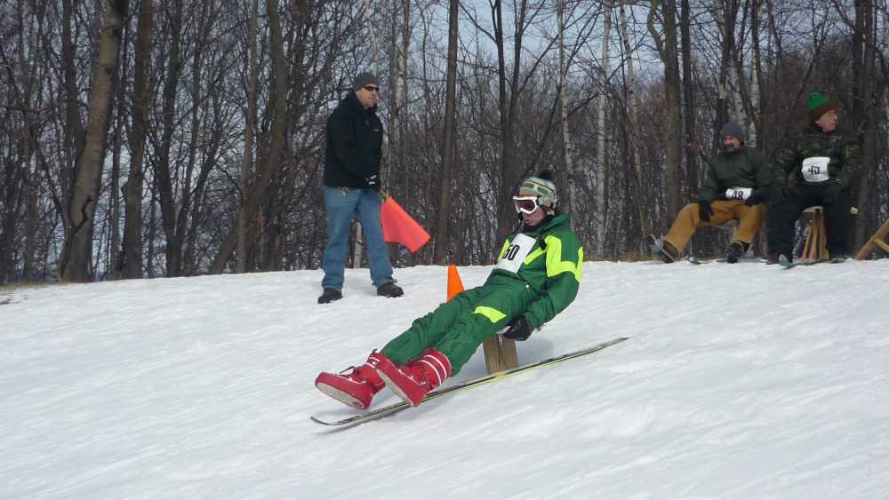 Don't miss the famous bumpjumping competition at the Petoskey Winter Carnival