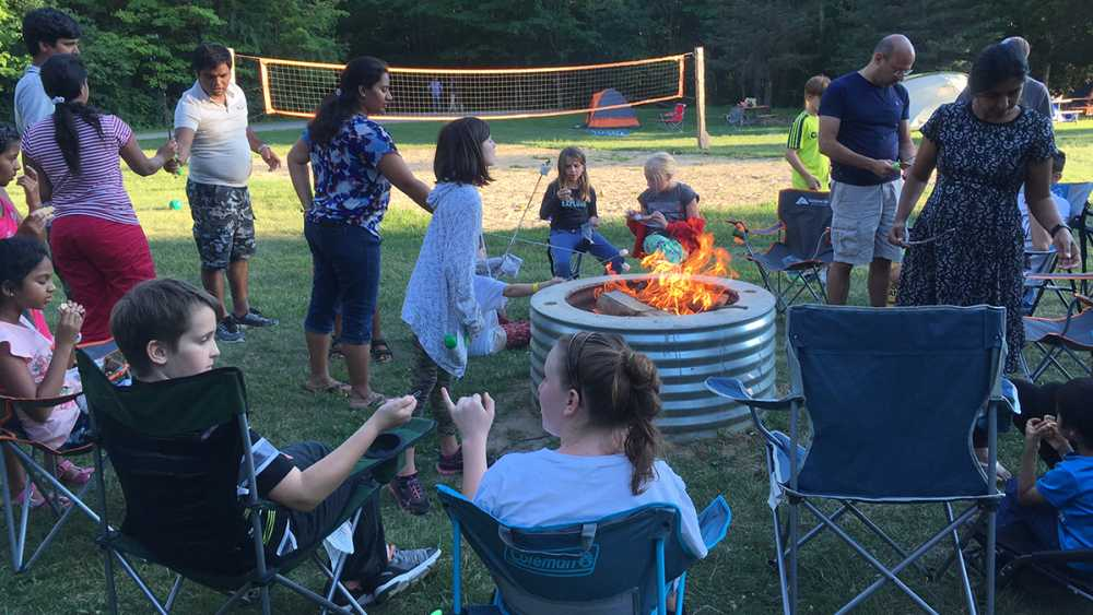 Campout fun at Maybury State Park