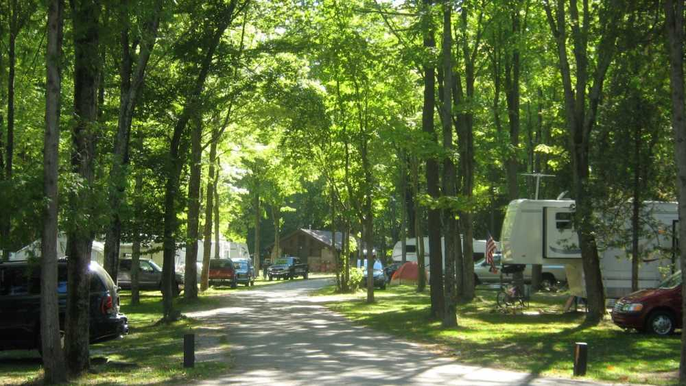 Campground at Harrisville State Park