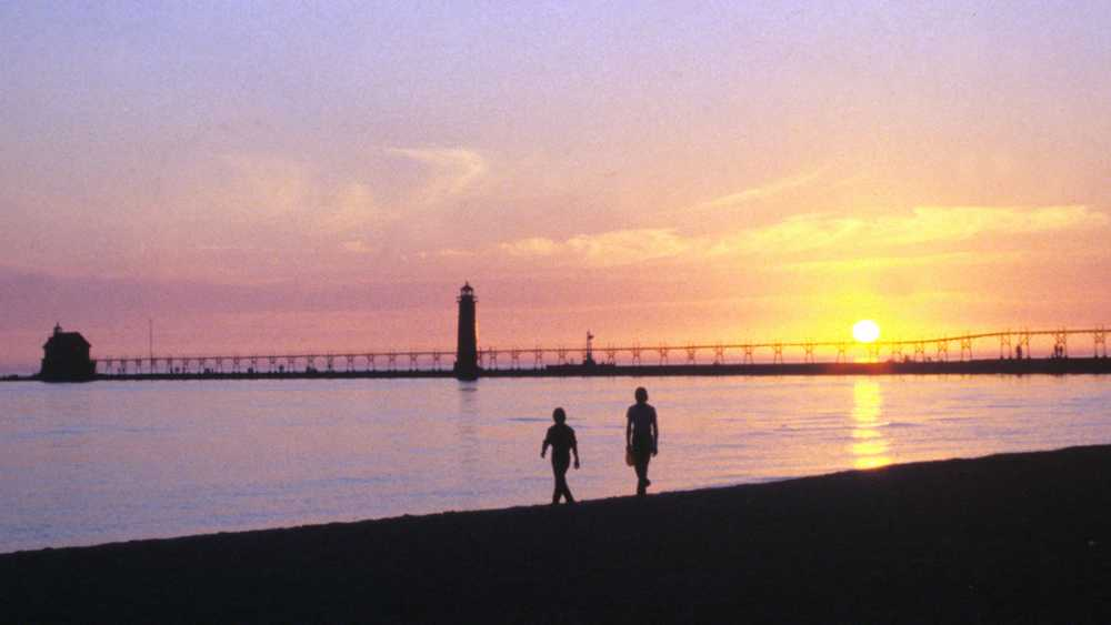 Grand Haven State Park at sunset
