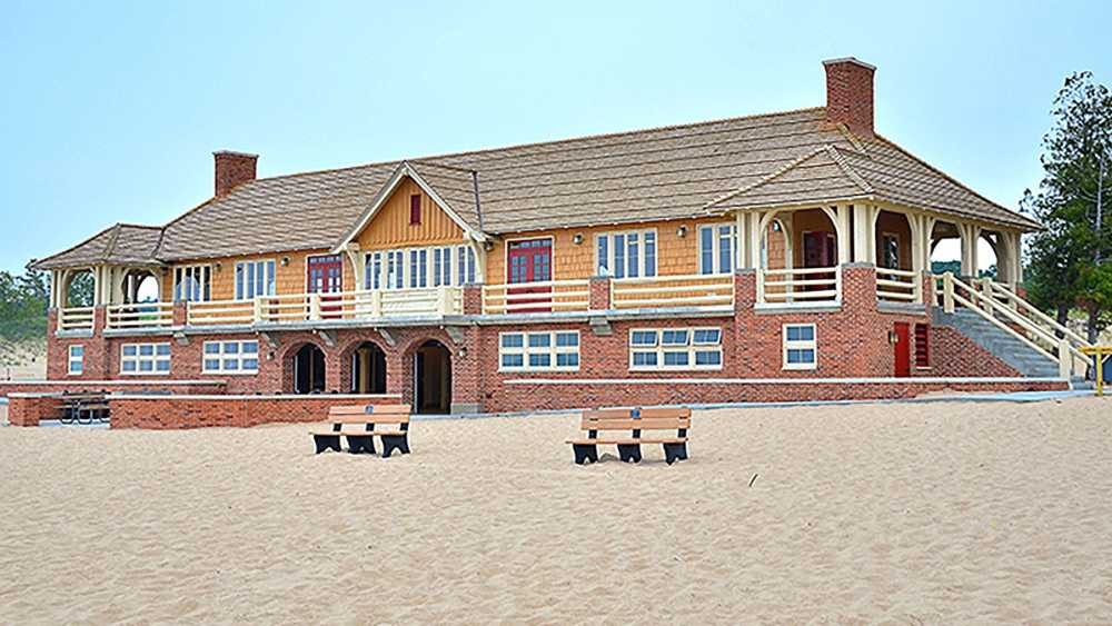 Beach house at Ludington State Park