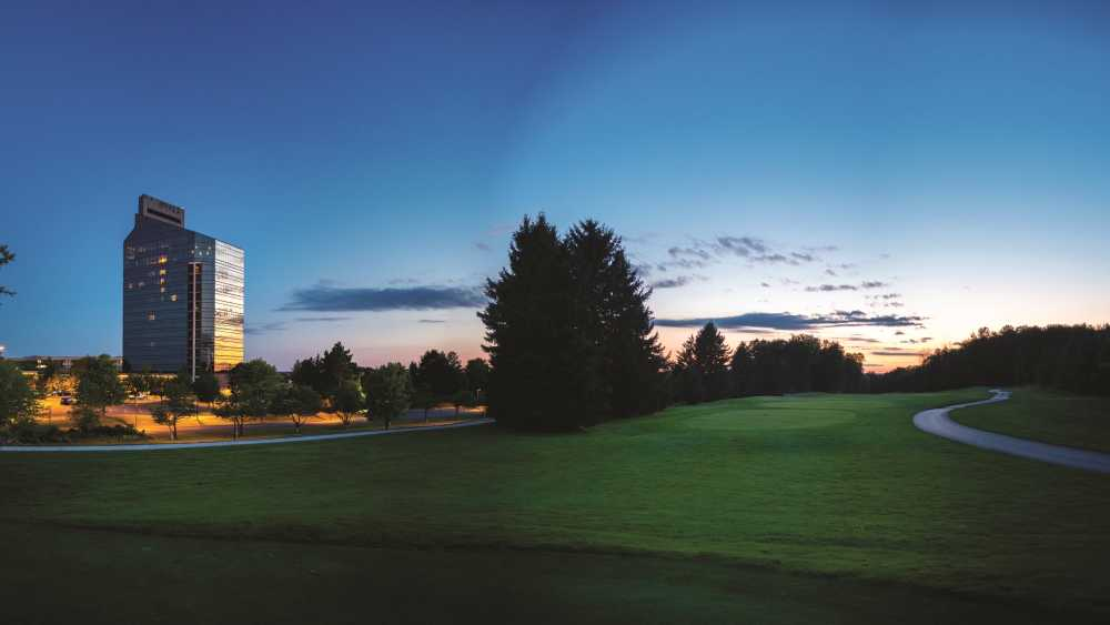 Golf course landscape at Grand Traverse Resort and Spa