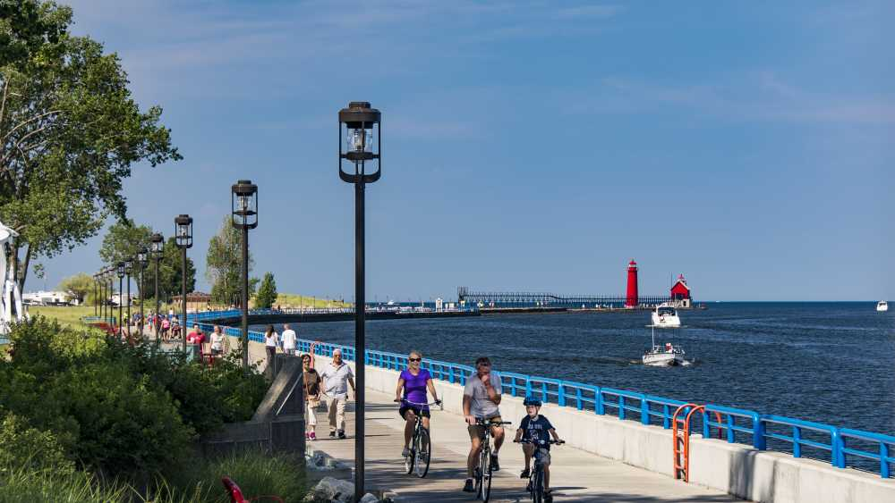Grand Haven Boardwalk - Photo: Bob Peskorse