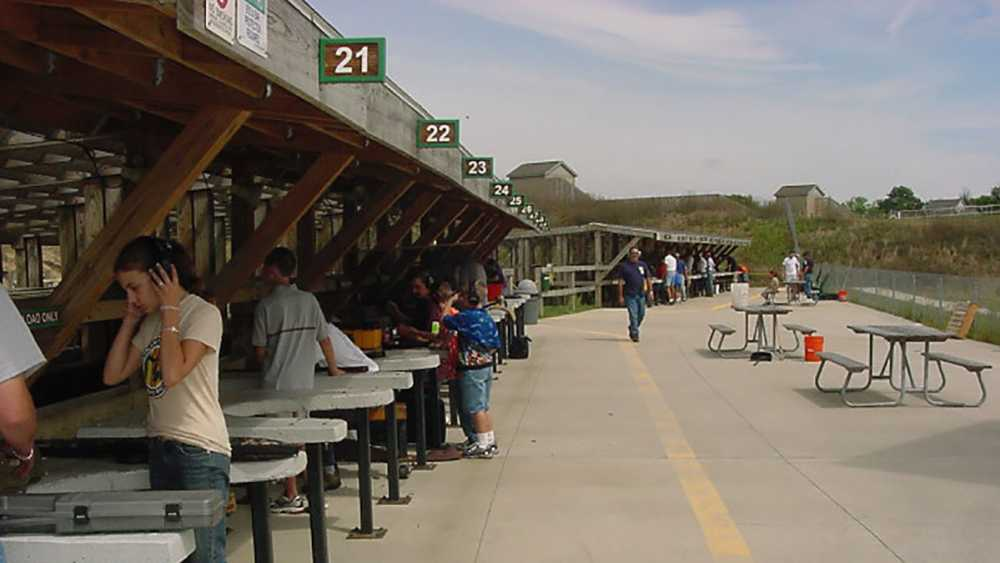 Shooting range at Island Lake Recreation Area