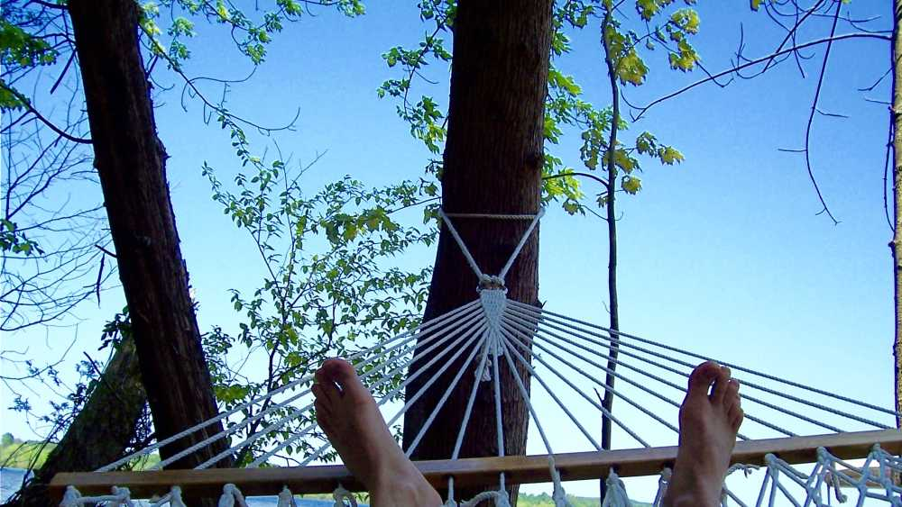 We even provide hammocks for you.