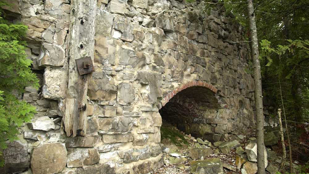 An old kiln made of limestone