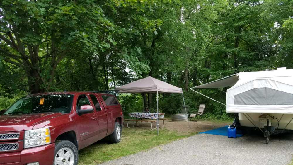 Pop-up camper at Ionia State Recreation Area