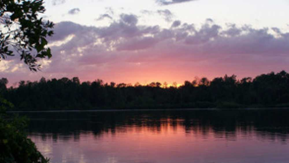 Sunset at Rifle River Recreation Area.