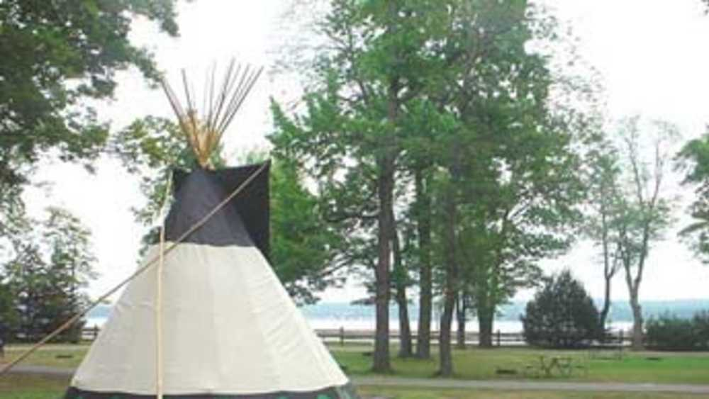 Tepee in the Baraga State Park campground.