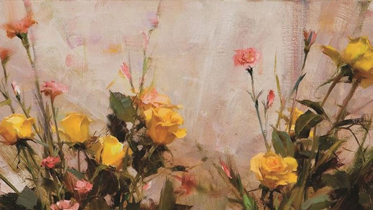 Richard Schmid (1934- ) Yellow Roses oil on canvas 20 x 30  Estimate: $75,000 to $125,000