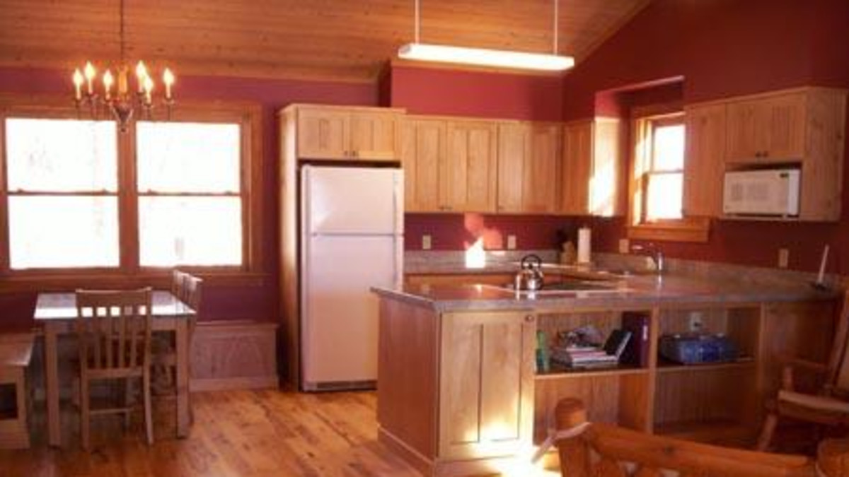 Kitchen/Dining Room at East Pond Cabin