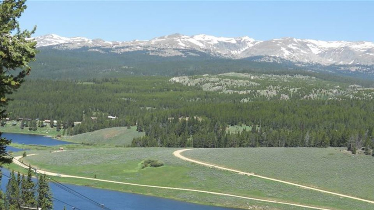 Meadowlark Lake in the Bighorn Mountains of Wyoming 8500 elevation
