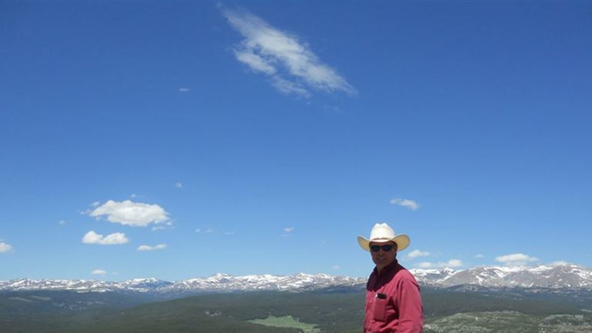 In the Big Horn Mountains of Wyoming, Meadowlark Lake and Lodge