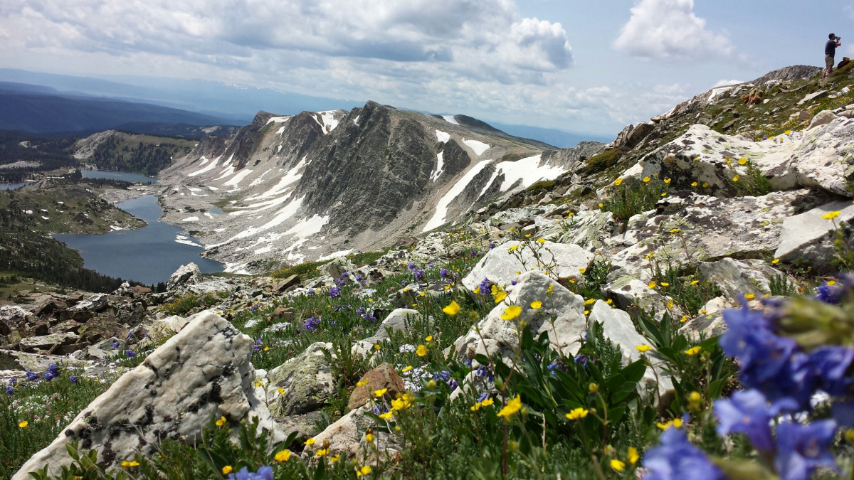 Top of Medicine Bow Peak hiking