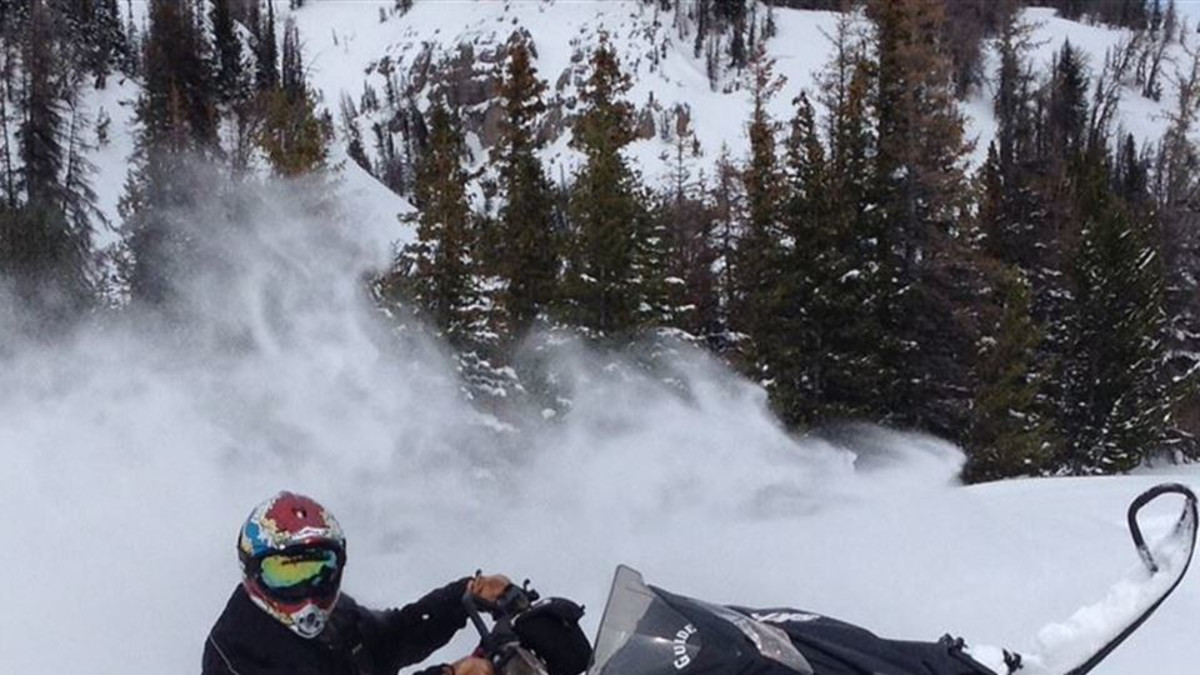 Carving in the powder in the Teton Backcountry
