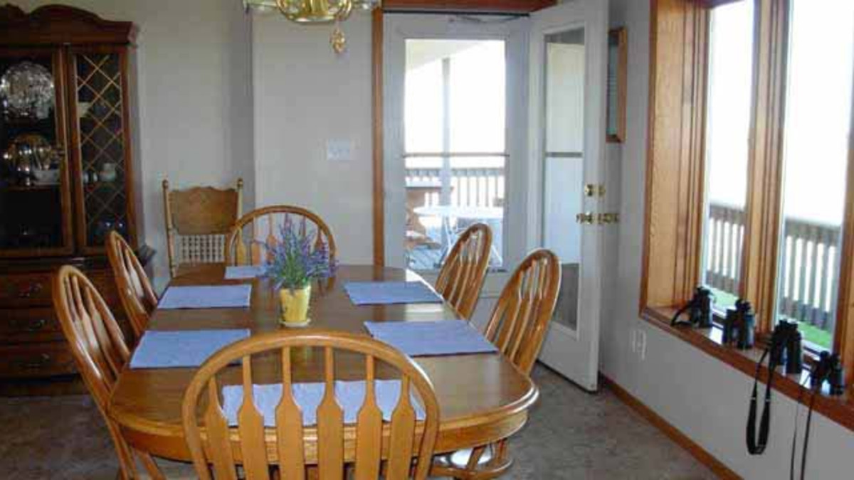 Dining Room - All meals are served family style. Breakfast is included in your stay and is served around 7:30 or 8:00 a.m. Evening meals are available with 24 hour advanced arrangements and are served around 6:30 or 7:00 p.m. Guests can see Rawhide Valley