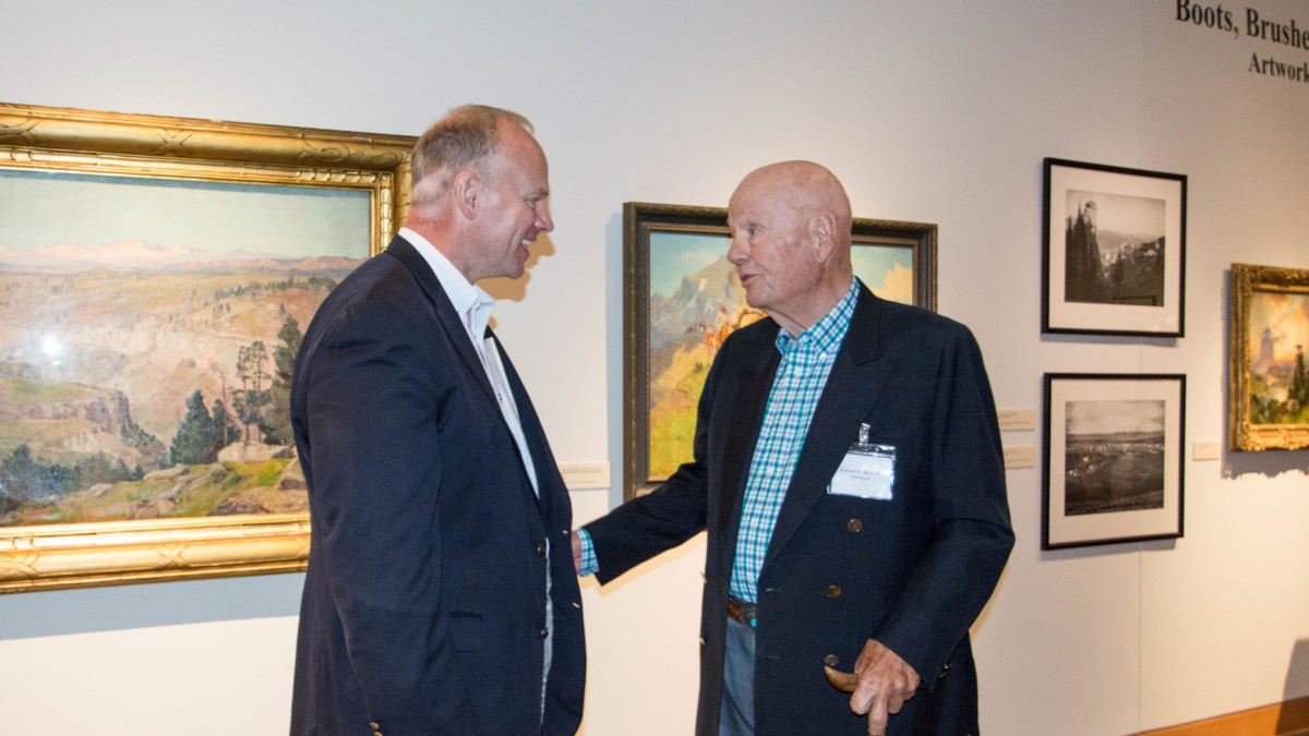 Wyoming Governor Matt Mead with TBM Board President Forrest Mars