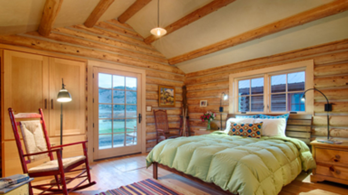 One Bedroom Cabin Bedroom