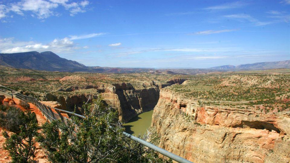 Bighorn Canyon National Recreation Area on Big Horn County Wyoming