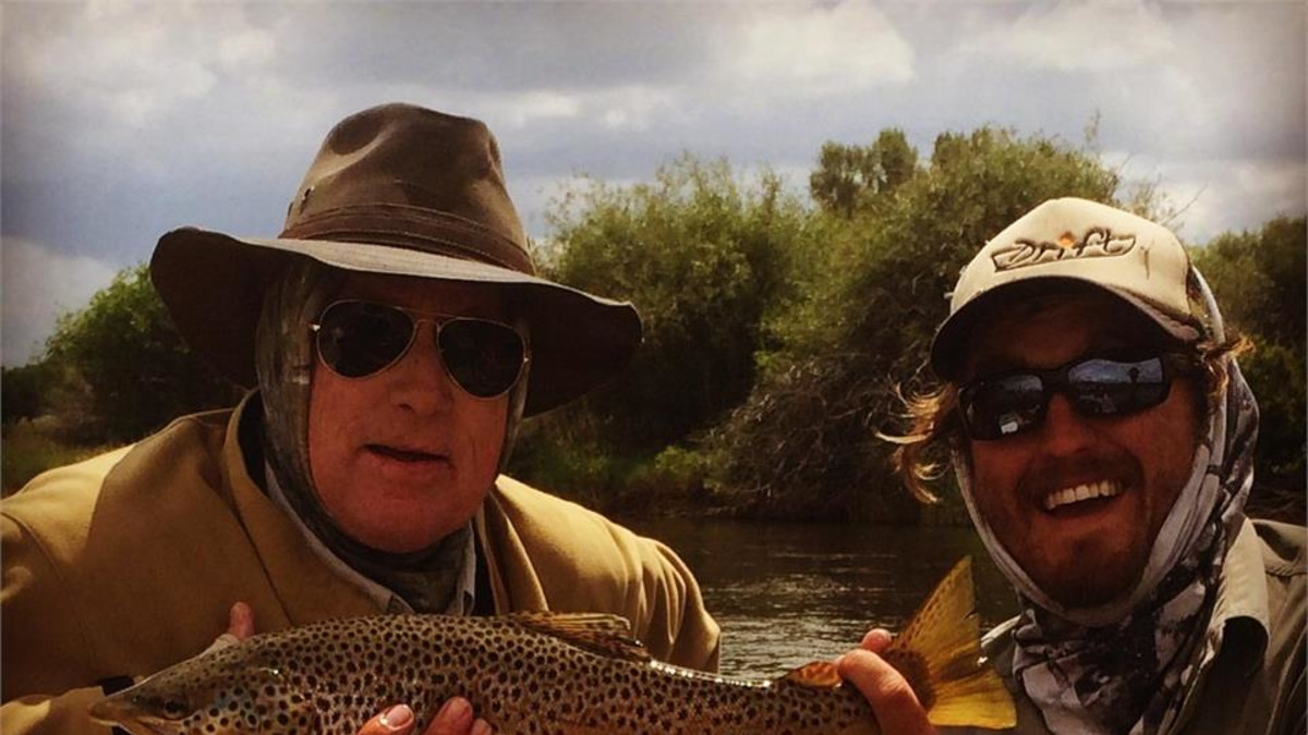 Summer dry fly brown trout