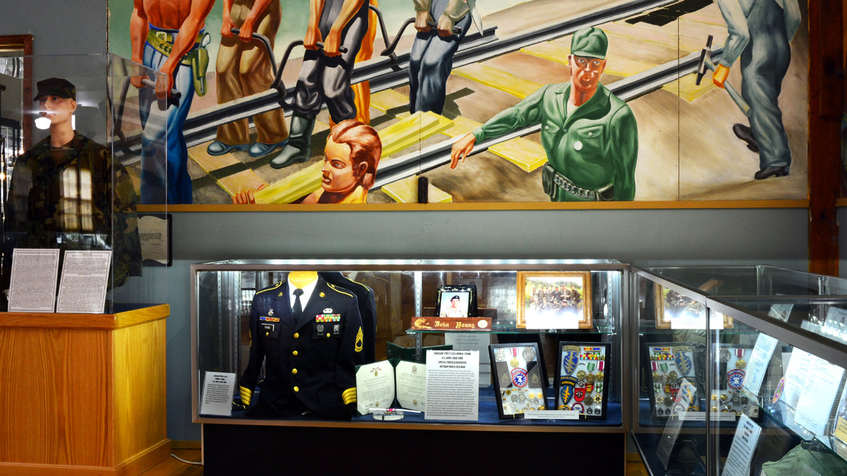 Historic Mural and Veterans Displays