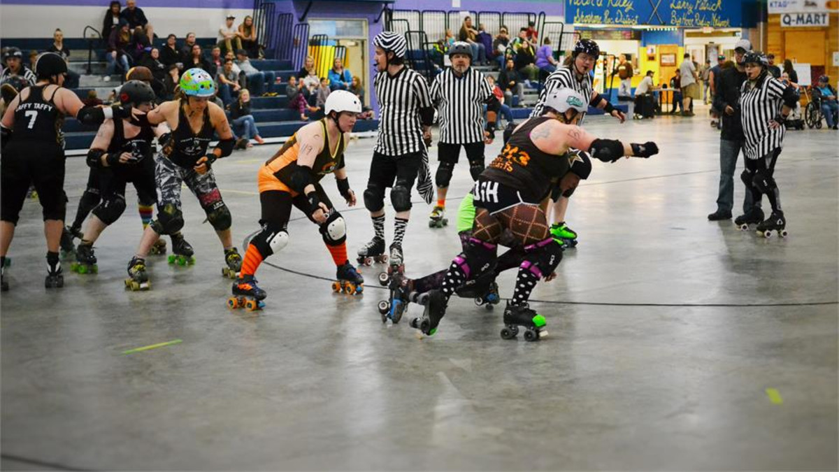 Roller Derby Bout held at the Riley Arena