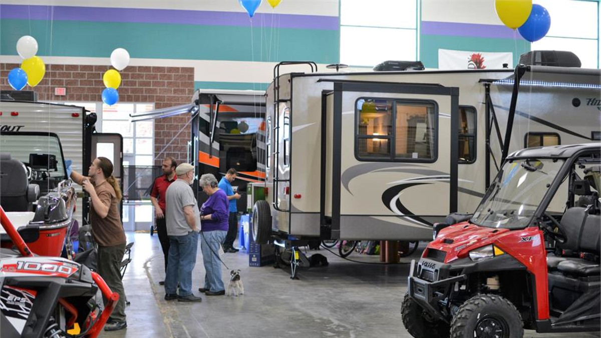 Midway RV Show held at the Riley Arena
