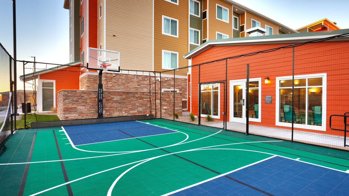 Revitalize your body with a pickup game of basketball, volleyball or tennis at our outdoor Sport Court.