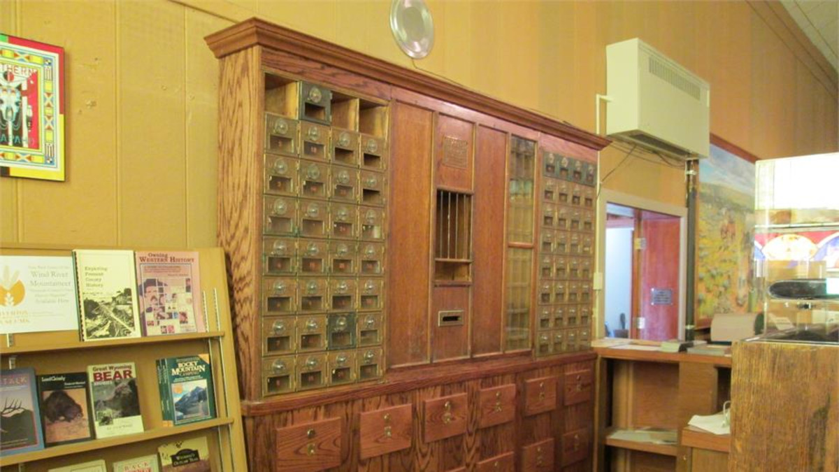 Historic Riverton Post Office Boxes